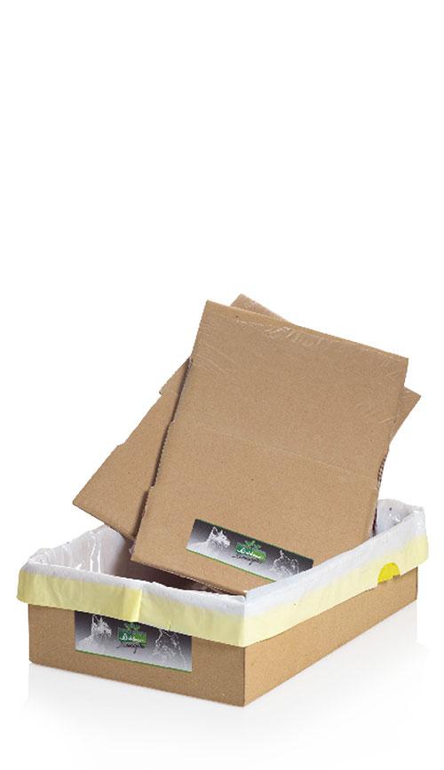 Lettiera da viaggio usa e getta con sacchetto