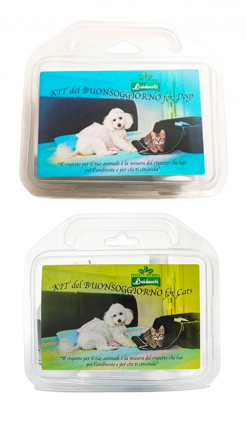 Kit del buonsoggiorno per cani e gatti